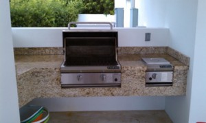 custom outdoor kitchen bbq repair service call and cleaning